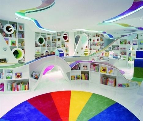 Bibliothèque pour enfants colorée - Beijing | picslovin | La bibliothèque dans la cité | Scoop.it