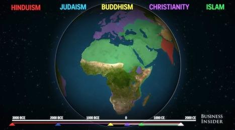 Mapa animado mostra como as religiões se espalharam pelo mundo | Historia e Tecnologia | Scoop.it