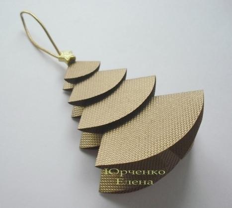 christmas craft ideas: paper christmas tree tutorial | make handmade, crochet, craft | Advent and Christmas | Scoop.it