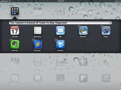 "iOrganized: How a teacher can use the iPad to stay organized? | Switch On - ""iPads in everyday education"" 