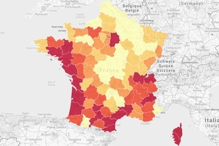 La France, 65 millions d'habitants inégalement répartis | La-Croix.com | Datajournalisme | Scoop.it