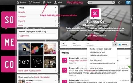 Twitter-vinkkejä aloittelijoille - Someco Oy - Sosiaalinen media | Twitter - perustietoa, vinkkejä ja linkkejä | Scoop.it