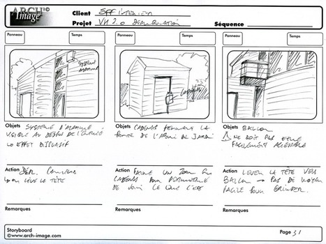 Le storyboard – Un peu de préparation pour de gros gains de temps et d'argent « ARCH'image | Infographie 3D | Scoop.it