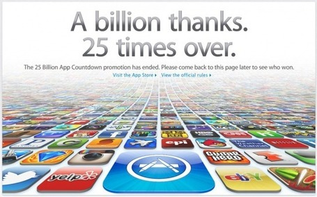 Apple App Store crosses over the 25 billion app download mark | Apple Rocks! | Scoop.it