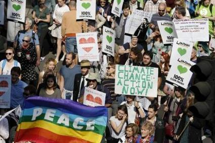 Tens of thousands join London climate march   Sustain Our Earth   Scoop.it