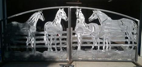 Custom Driveway Gates & Metal Art | metal art | Scoop.it