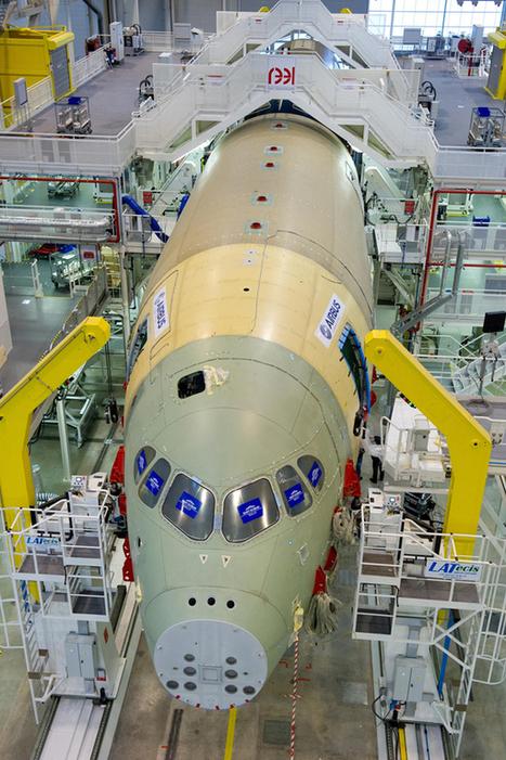 Airbus : Début de l'assemblage de l'A350 - AeroWeb-fr.net | FlightControl | Scoop.it