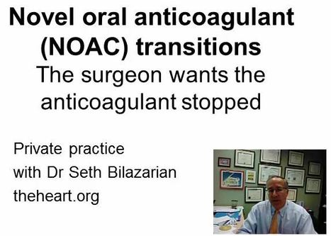 Novel Oral Anticoagulant transitions | Heart and Vascular Health | Scoop.it