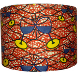 Handmade Lampshade - Orange  African Print fabric with Clinking Wine Glasses | art contemporain africain | Scoop.it