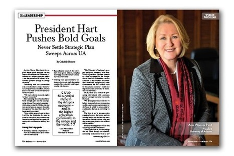 President Hart Pushes Bold Goals – Never Settle Strategic Plan Sweeps Across UA | BizTucson | CALS in the News | Scoop.it