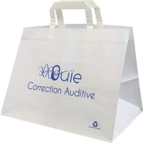 Sac papier à poignées plates réalisé pour Ouïe Audition - Le Sac Publicitaire   Sac papier publicitaire   Scoop.it