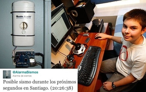 "Sebastian Alegri : ""Teenager in Chile builds a Twitter-enabled earthquake warning system for his country 