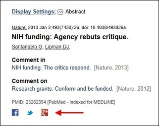 PubMed Update: Social Media Icons Added | Digital tools for researchers | Scoop.it