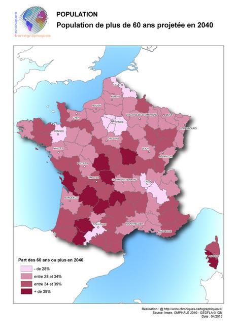 Analyse cartographique de la population française : structure, densité, vieillissement. - Chroniques Cartographiques | ClioTweets | Scoop.it