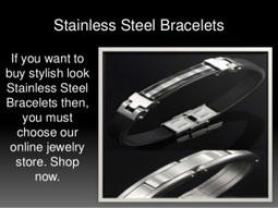 Blue Stainless Steel Bracelets   Stainless Steel Blue Rings   Scoop.it