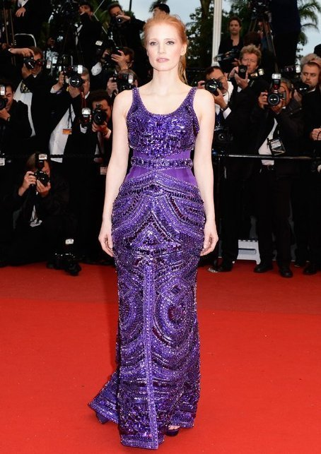 Jessica Chastain's Regal Look in Purple | Red Carpet Fashion | Scoop.it