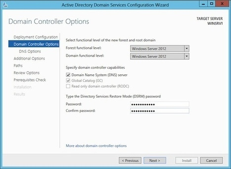 Install Active Directory on Windows Server 2012 with Server Manager | Managed Hosting | Scoop.it