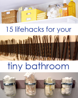 15 Lifehacks For Your Tiny Bathroom | Best Home Organizing Tips | Scoop.it