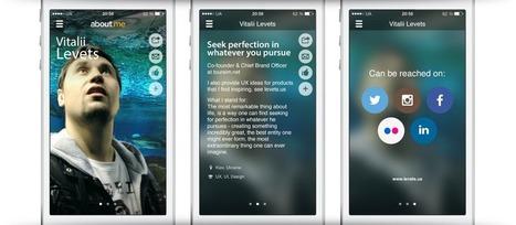 Aboutme app New inspiring design ideas | UXplus | Scoop.it