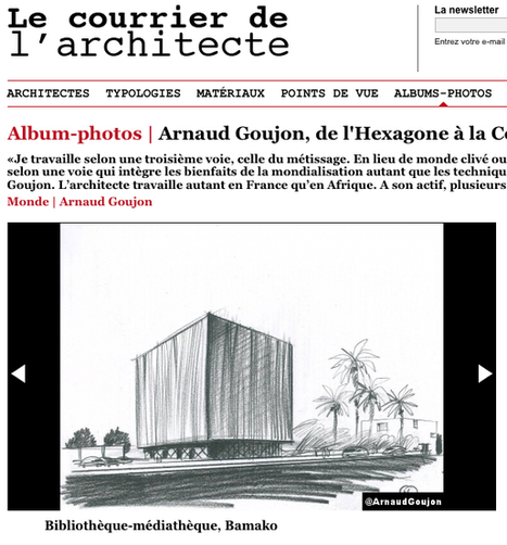 Le Courrier de l'Architecte publie Arnaud Goujon: La voie du métissage | Architecture Urban Design | Scoop.it