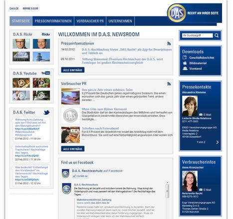 D.A.S. Rechtsschutz Newsroom | Social Media Newsrooms | Scoop.it