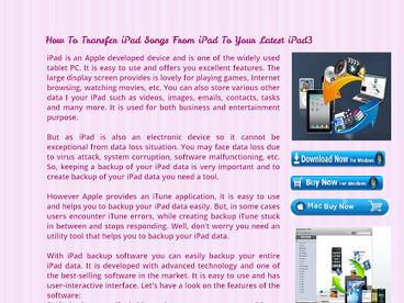 iPad Transfer For Mac | Technology | Scoop.it