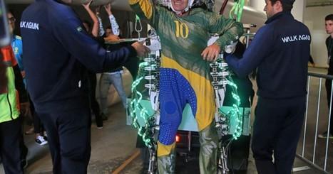 Jovem paraplégico usa exoesqueleto e chuta bola na abertura da Copa | Tecnologia no futebol: nova camisa da seleção, bolas que mudam de cor e até chuteiras autoadptáveis | Scoop.it