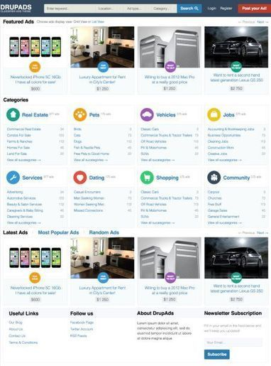 DrupAds – Classified Ads Drupal 7 Professional Responsive Theme   Premium iThemes   Themes & Templates   Scoop.it