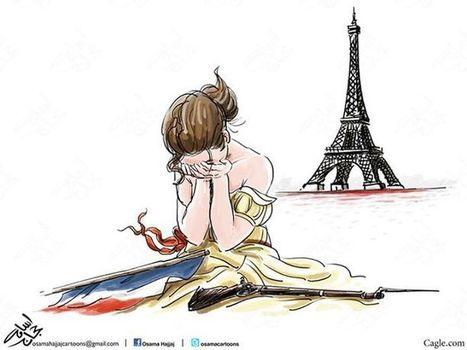 Après la terrible nuit d'attentats du 13 novembre, des hommages dessinés aux 4 coins du monde par les dessinateurs de Cartooning for Peace | Dessinateurs de presse | Scoop.it