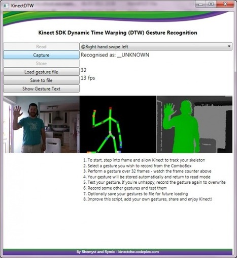 Kinect SDK Dynamic Time Warping (DTW) Gesture Recognition | Kinect, XNA, WPF, XAML, C#, .NET Developer | Scoop.it