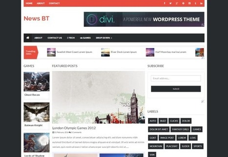 NewsBT Responsive - 3 Column News Blogger template | Blogspot templates | Scoop.it