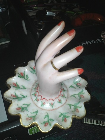 Vintage Lady's Hand Ring Holder  Made In Japan | Antiques & Vintage Collectibles | Scoop.it