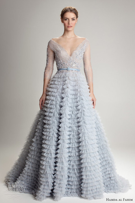 More Blue Wedding Gowns That Will Have You Re-thinking Traditional Styles - I Do Take Two | Wedding Inspiration | Scoop.it