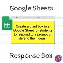 Google Sheets: Create A Student Response Box using merge - via @AliceKeeler | iGeneration - 21st Century Education (Pedagogy & Digital Innovation) | Edtech PK-12 | Scoop.it