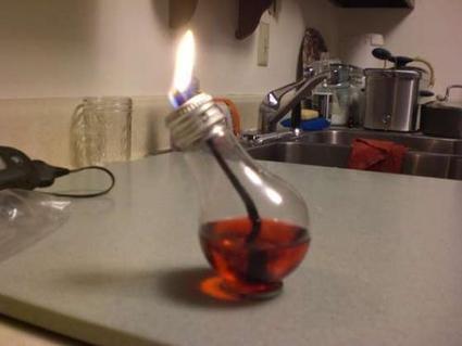 Como hacer lámparas de aceite con bombillas. | Mente | Scoop.it