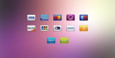 Attractive Freebie For Designers: 30 Credit Card Icon Set - Web Design Talks | Web Design | Scoop.it