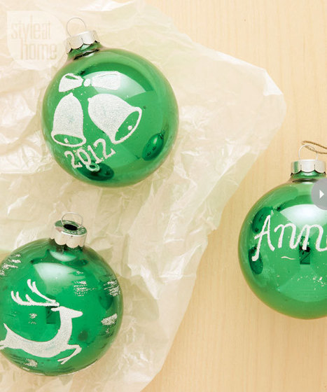 Holiday craft: Vintage-inspired Christmas ornaments - Style At Home   Retro-Rustic-Reclaimed Finds   Scoop.it