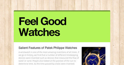 Salient Features of Patek Philippe Watches | Watches | Scoop.it