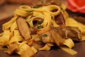 Tagliatelle con funghi porcini e zafferano | Ricette vegetariane e vegane | Scoop.it