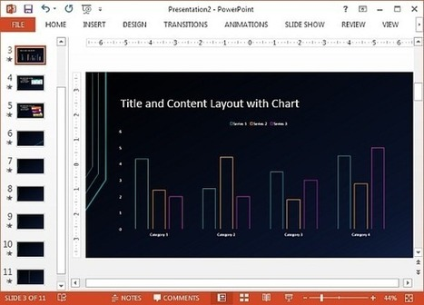 Futuristic Circuit Template for PowerPoint   Free Microsoft Word Templates   Scoop.it