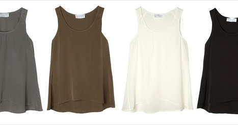 The Perfect Silk Tank Costs $55 | TAFT: Trends And Fashion Timeline | Scoop.it