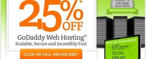 GoDaddy hosting coupon: save 25% on new hosting plans !!   Coupon-codes.info   GoDaddy promo coupon codes for domain, hosting or renewal, never expires   Scoop.it