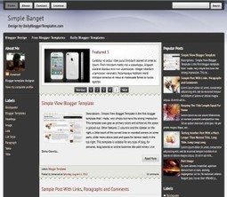 Simple Banget Blogger Template Free Download by Lupe - HeavenThemes | Blogger themes | Scoop.it