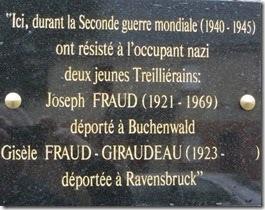 Inauguration d'une plaque dédiée à Joseph et Gisèle Fraud sur le bâtiment de l'ancienne gare - [Association Treillières au fil du temps]   Histoire 2 guerres   Scoop.it