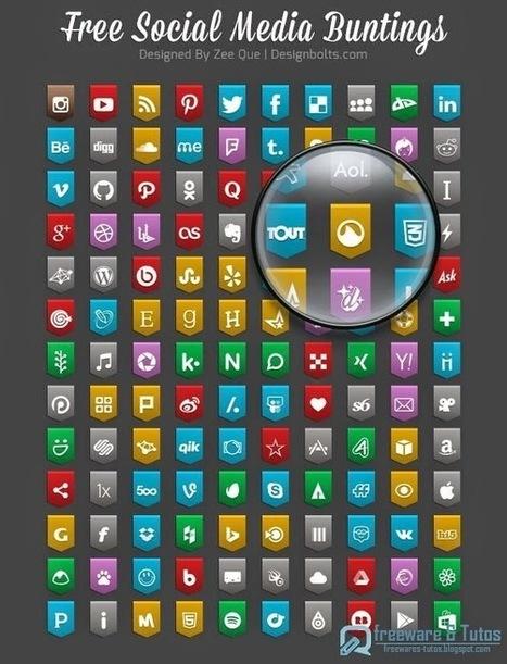Free Social Media Buting Icons 2015 : un pack de 130 icônes gratuites sur le thème des réseaux sociaux | Design | Scoop.it