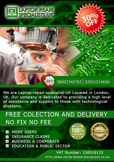 Laptop Repair Specialists UK Flyer graphic design | Best internet websites | Scoop.it