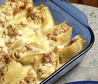 Stuffed Chicken Shells | recipe | eveningedge.com | ajc.com | Soul Food Recipes | Scoop.it