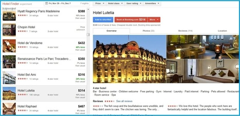 Comment fonctionne Google Hotel Finder - L'Echo Touristique | Hotel Web Marketing | Scoop.it