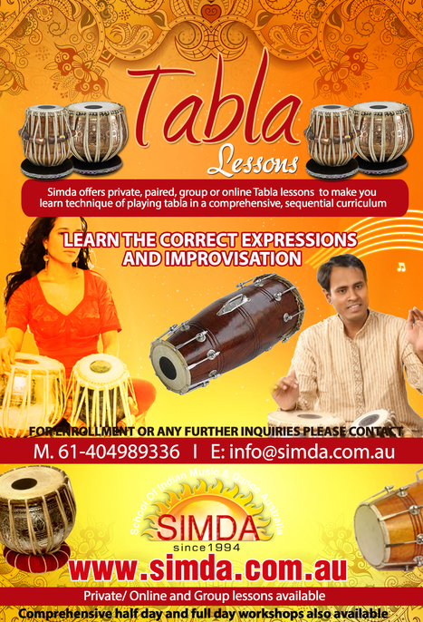 Tabla Lessons in Melbourne by SIMD | Infographic | Scoop.it