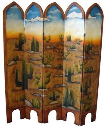 Cactus Hand Painted Rustic Room Divider | Tres Amigos | Scoop.it
